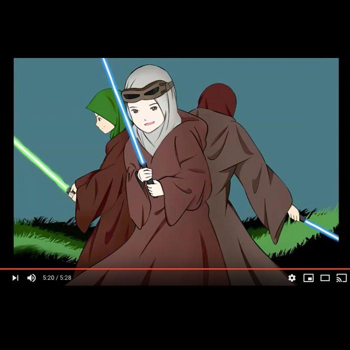 star wars muslim jedi protect the world from darkness speedpaint video thumbnail