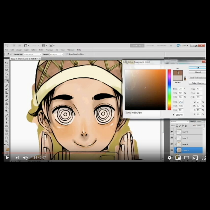 techno daei speedpaint instagram video thumbnail