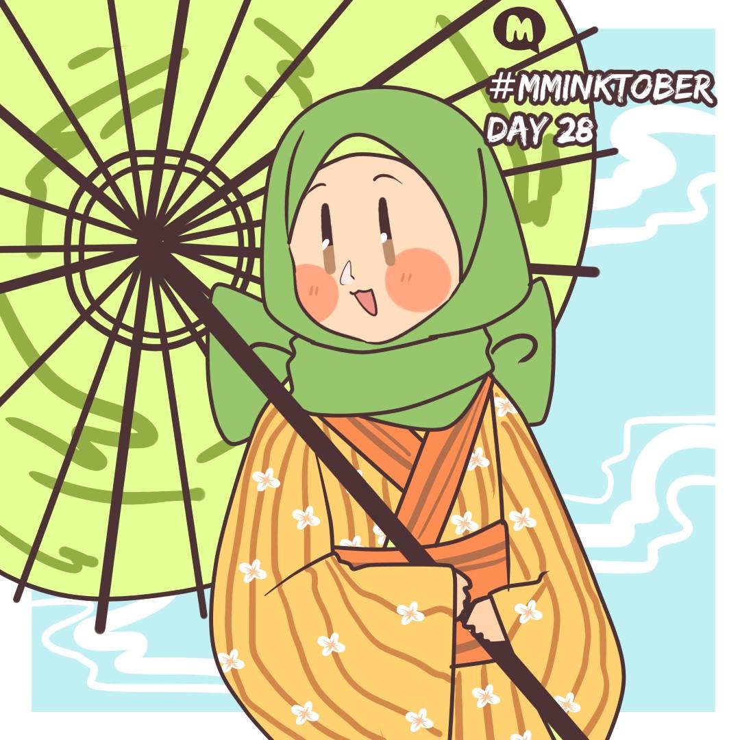 Day 28: Aya in a kimono