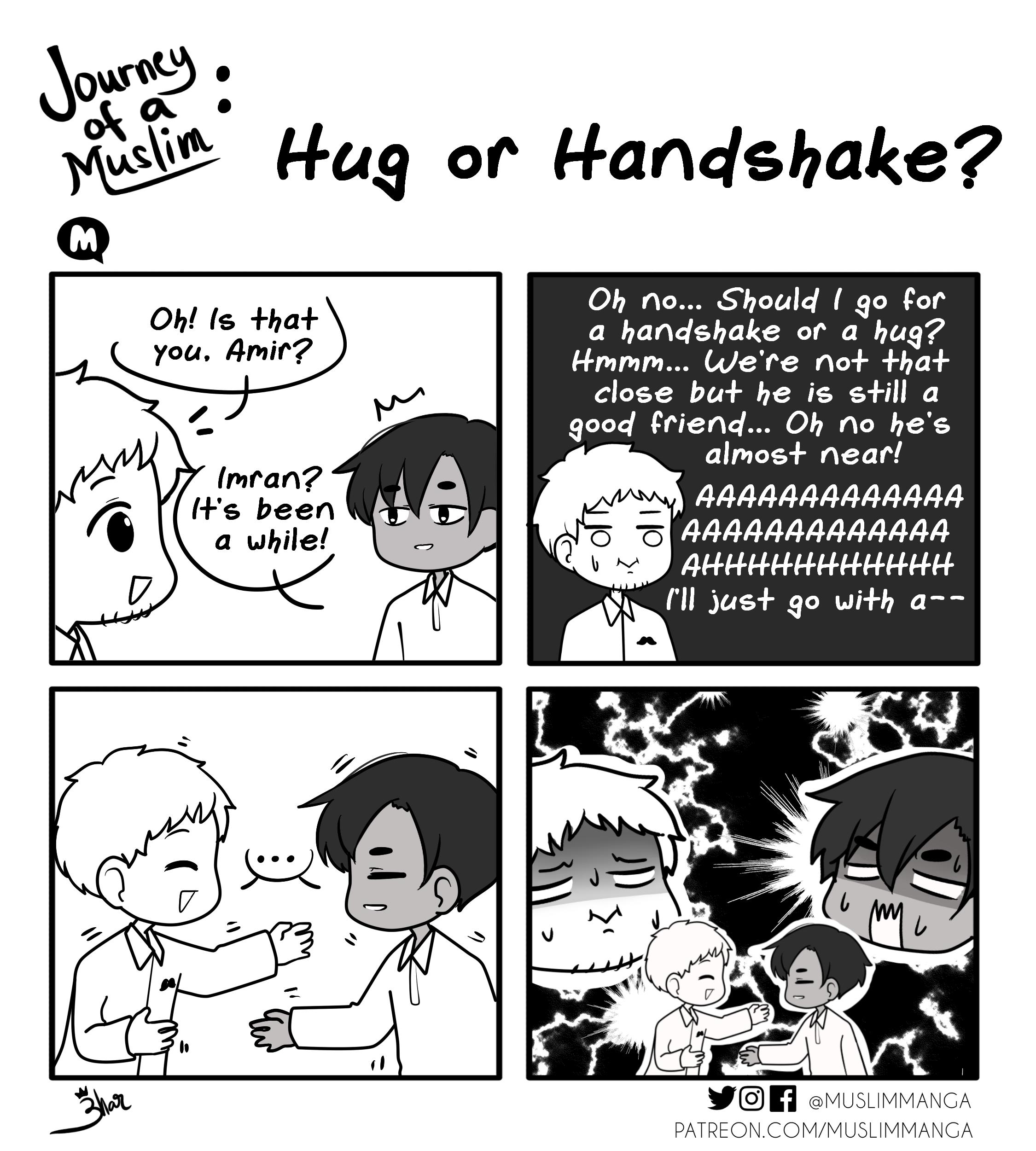 Hug or Handshake?