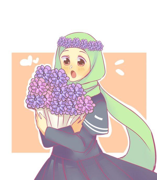 Muslim character, Aya in hijab | Islamic Comics
