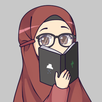 Hijabi Muslim Manga contributor reading a book