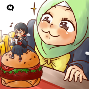 #nurcitymemers - Aya, Muslim character from Muslim Manga Club